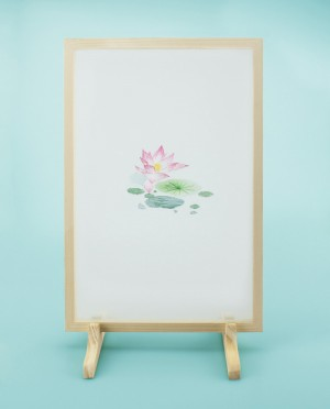 JIN Seidenstickerei – Lotus • Blüte