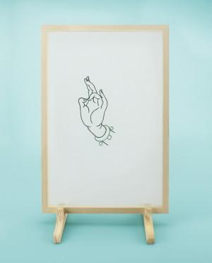 Seidenstickerei – Buddhas Hand • Zen