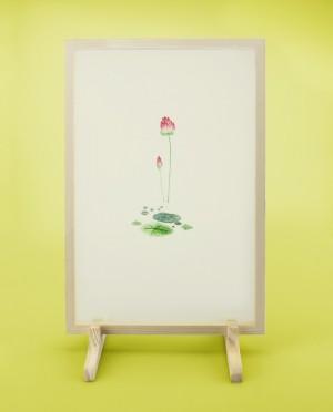 Seidenstickerei – Lotus • Hoffnung