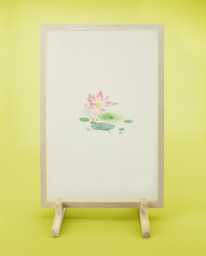 Seidenstickerei – Lotus • Blüte