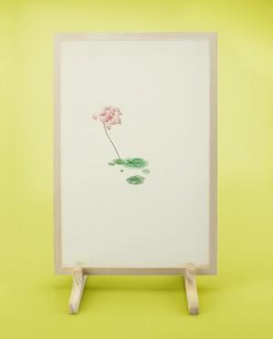 Seidenstickerei – Lotus • Abschied