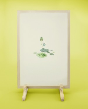 Seidenstickerei – Lotus • Ernte